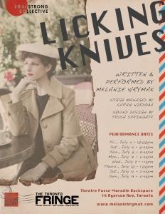 Licking Knives by Melanie Hrymak